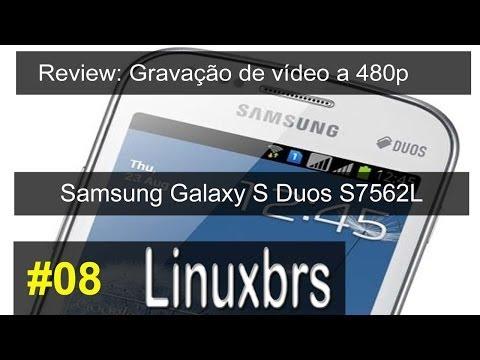 Samsung Galaxy S Duos GT - S7562 - Review Teste de video em 480p - PT-BR BRASIL - PORTUGUÊS
