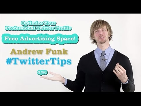 Twitter Tips: Free Advertizing Space! (2/50)