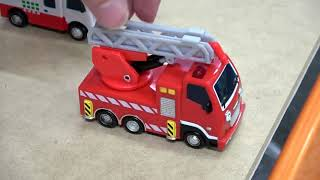 Tayo the little bus in real life! max dump truck funny accident story tayo rescues max!