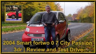 Review and Virtual Video Test Drive In Our 2004 Smart fortwo 0 7 City Passion 3dr YB04SSJ