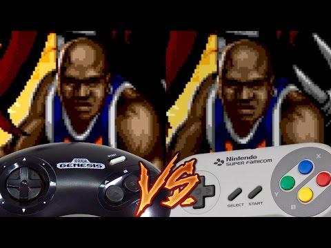 Sega Genesis Vs Super Nintendo - Shaq Fu