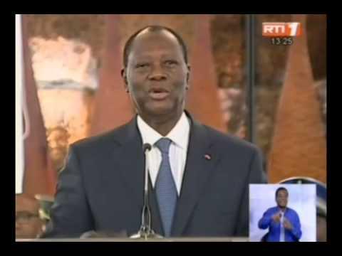 RTI - Discours du chef de l'Etat Alassane Ouattara lors de la décoration des éléphants