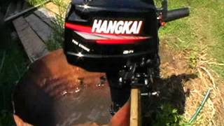 обкатка нового лодочного мотора ханкай