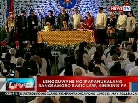 NTVL: Lengguwahe ng ipapanukalang Bangsamoro Basic Law, kinikinis pa