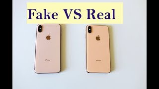 How to spot Fake iPhone XS Max -- Fake VS Real iPhone XS Max