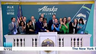 Alaska Air Group, Inc. Rings the NYSE Closing Bell