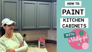 How to Paint Kitchen Cabinets with a DIY Hack to Save Time and Money!