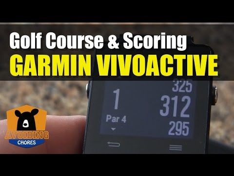 Garmin Vivoactive - How To Use Golf Activity