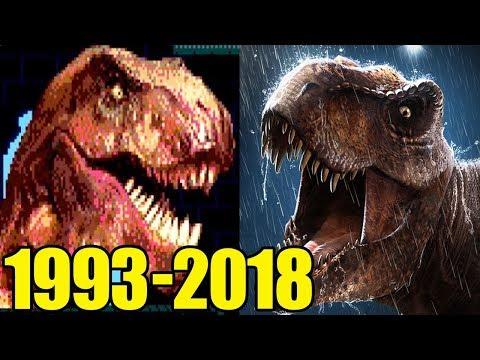 Evolution of Jurassic Park Games (1993-2018)