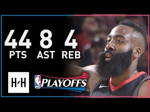 James Harden Full Game 1 Highlights Timberwolves vs Rockets 2018 Playoffs - 44 Pts, 8 Ast, 4 Reb!