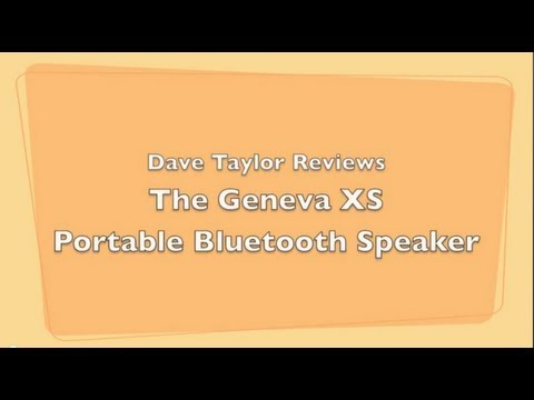Geneva XS Bluetooth Speaker Review