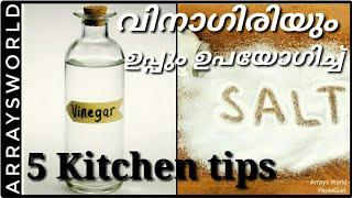 5 kitchen Tips Using Vinegar and Salt   വിനാഗിരിയും ഉപ്പും ഉപയോഗിച്ച് നമുക്ക് വീട് വൃത്തിയാക്കാം  