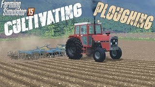 Ploughing and Cultivating field on Slovenian farm