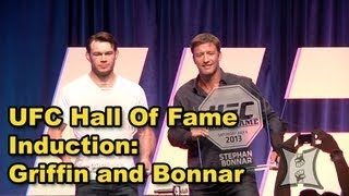 UFC Hall Of Fame Induction Ceremony with Forrest Griffin, Stephan Bonnar + Dana White