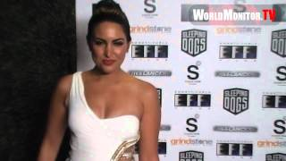 Estrella Nouri big sexy booty spin vs JLO and Kim Kardashian at Freelancers film premiere