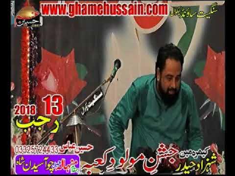 Allam Hamid Raza Sultani 13 Rajab 2018 at MInhala