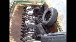 Komptech Terminator UF Shredding Tires.wmv