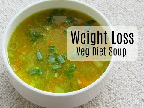Veg Diet Soup For Weight Loss - How To Lose Belly Fat - Fat Burning Vegetable Soup - Skinny Recipes