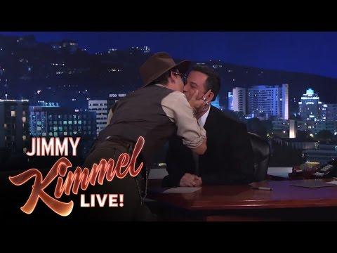 Johnny Depp on Jimmy Kimmel Live PART 1