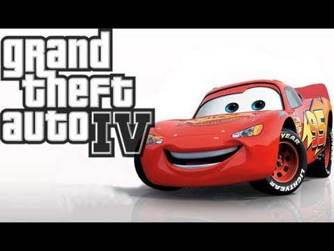 GTA IV   Lightning McQueen Vehicle Mod.