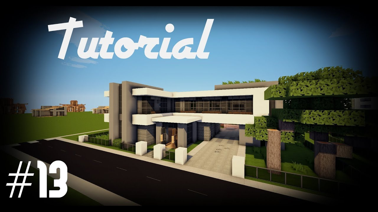 Minecraft como hacer una casa moderna 13 youtube for Casas modernas 6 minecraft