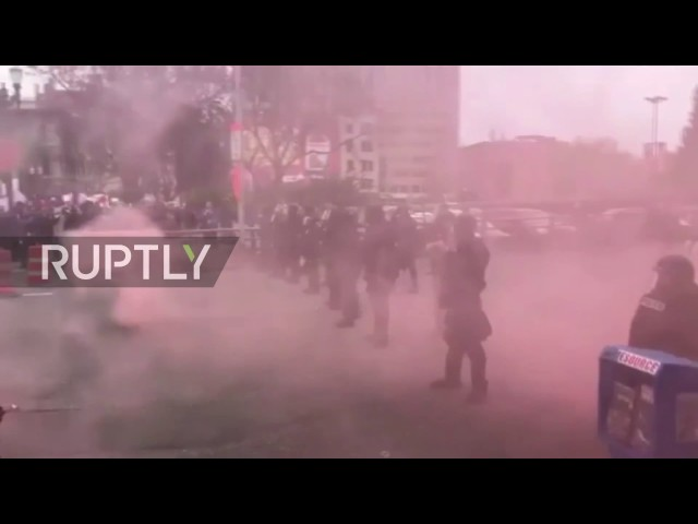 USA: May Day protest turns violent in Portland