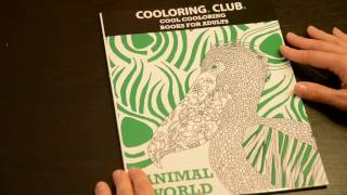 Coloring book ANIMAL WORLD: full preview