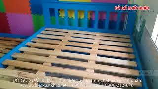 Giường tầng hộp cao cấp - Giường tầng trẻ em & người lớn [giuong tang, giường tầng gỗ tự nhiên]