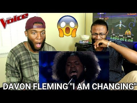 The Voice 2017 Davon Fleming  The Playoffs: I Am Changing REACTION