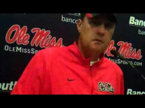 Ole Miss coach Hugh Freeze, Florida, post game