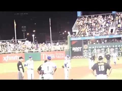 Josh Harrison rundown vs New York Mets June 27 2014 pnc park