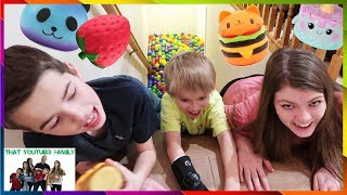 Ball Pit Stair Slide Squishy Scavenger Hunt / That YouTub3 Family