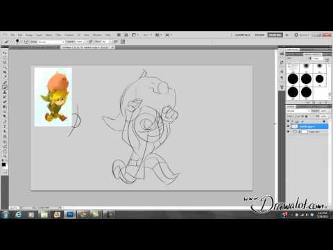 Видео как научиться рисовать в Фотошопе