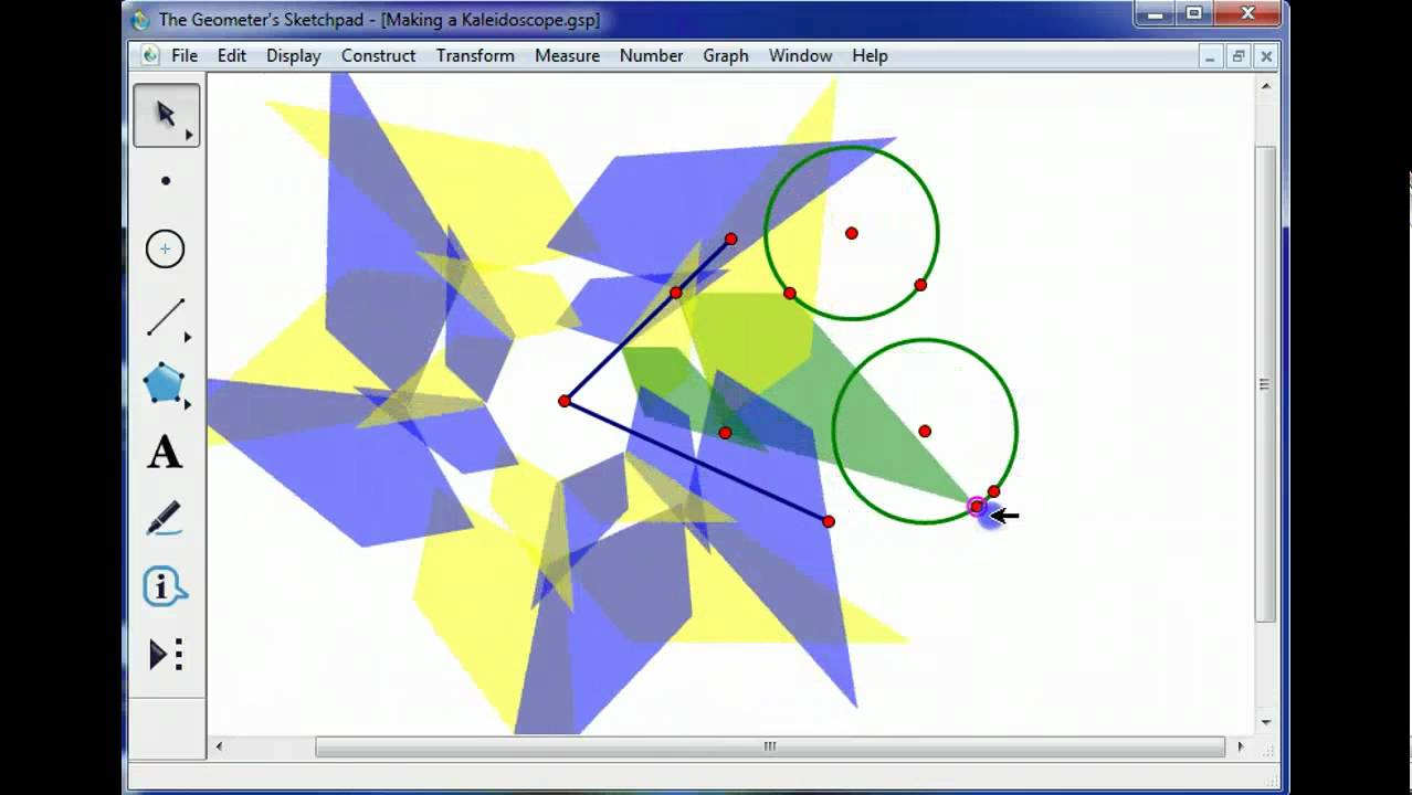 Creating a kaleidoscope with geometer 39 s sketchpad youtube for Sketchpad com