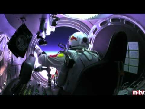 HELMET CAMERA STRATOS JUMP Felix Baumgartner HD