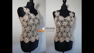 How to crochet easy summer top  all sizes pattern tutorial