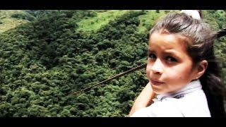 Zipline commute: Columbia kids cross canyon to reach school (Learning World: S1E04, part 1/3)