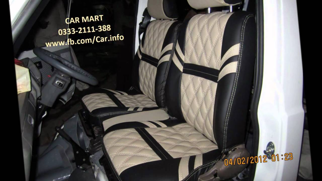 suzuki hi roof custom seat covers by car mart car interior designers karachi youtube. Black Bedroom Furniture Sets. Home Design Ideas