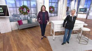 Denim & Co. Faux Leather Zip-Front Jacket with Ruffle Detail on QVC
