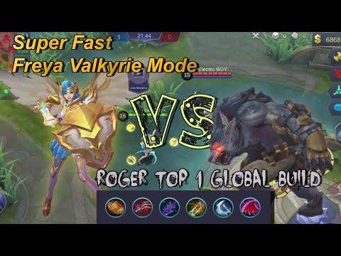 Freya vs Roger Lifesteal + Top 1 Global Roger Build   Best Fighter Mobile Legends