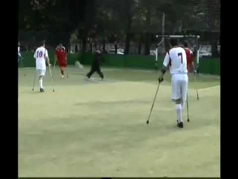 Paralympic football for athletes with physical disabilities