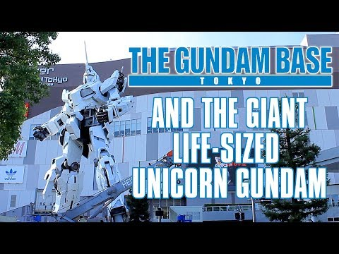 Giant Life-Sized Unicorn Gundam and The Gundam Base Tokyo FULL TOUR!