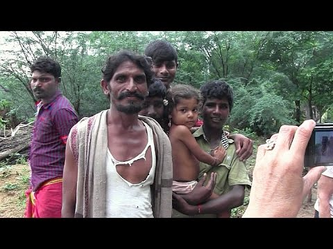 South India Full Day 2 - Kanchi temples and visit with Outcasted family