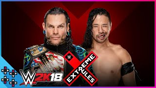 Extreme Rules 2018: Jeff Hardy vs. Shinsuke Nakamura - United States Title Match - WWE 2K18 Sims
