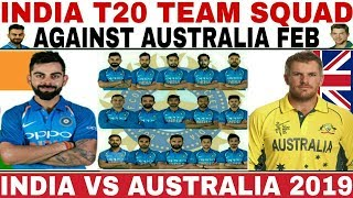 India Team Playing 11 For Australia Series 2019 | Virat Kohli | Aaron Finch