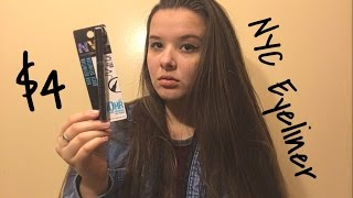 NYC Felt tip liquid eyeliner review // Lucy Viruet