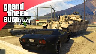 GTA V Freeroam - DORITOS ROULETTE CHALLENGE MET TANKS! (GTA 5 Online
