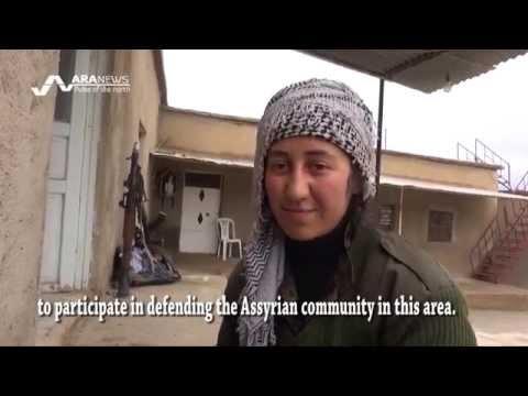 Kurds and Assyrians combat ISIS north Syria القوات المشتركة تدافع عن القرى الآشورية ضد داعش