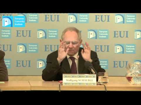 Wolfgang Schäuble, Lecture at the EUI 7 March 2012
