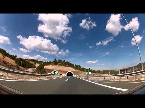 Drive Greece | Egnatia Road (A2) Metsovo - Thessaloniki | Amazing Tunels